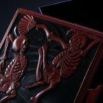 彫漆茶箱 「蓮のうてな」